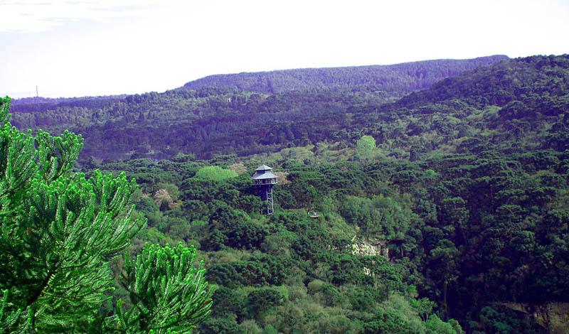 Vista do Parque do Caracol em Canela