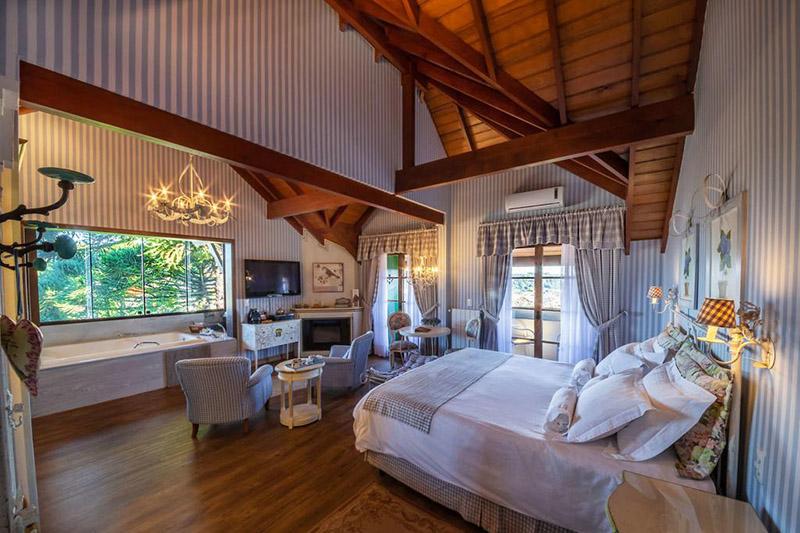 Suíte do Hotel Casa da Montanha em Gramado
