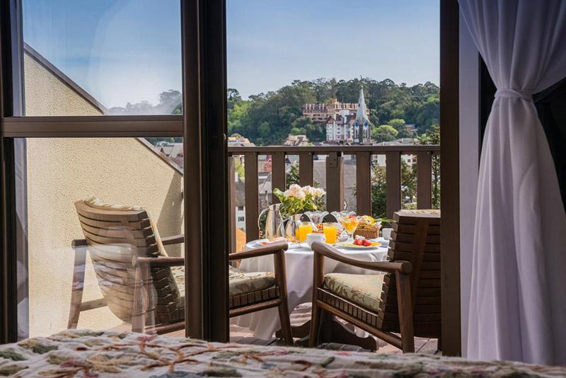 Varanda do Hotel Wish Serrano em Gramado