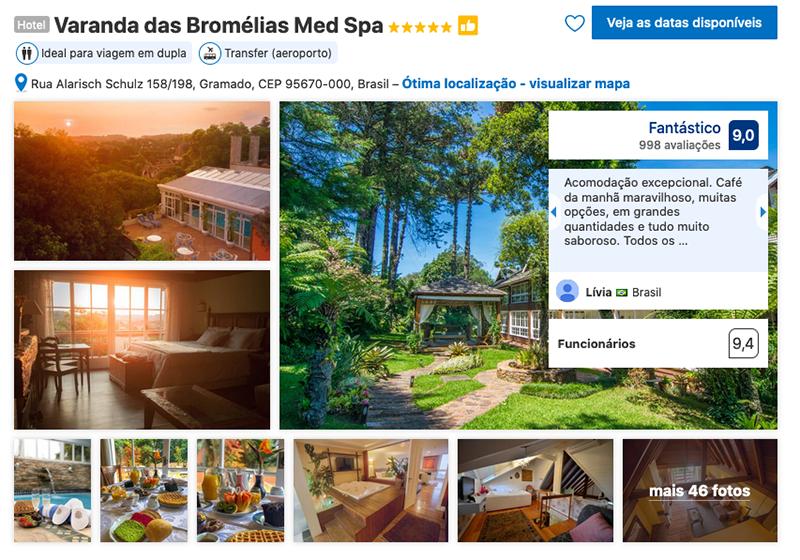 Varanda das Bromélias Med Spa em Gramado
