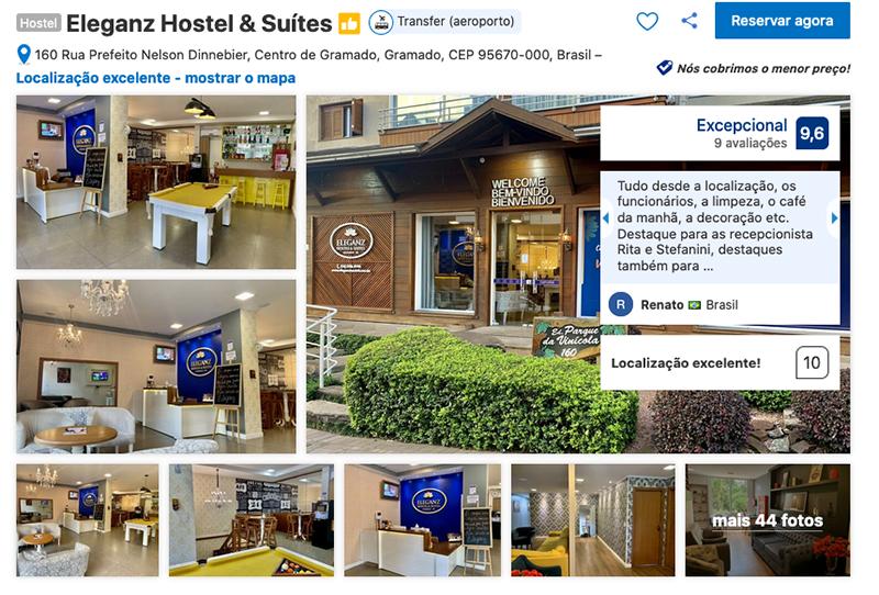 Eleganz Hostel & Suítes em Gramado